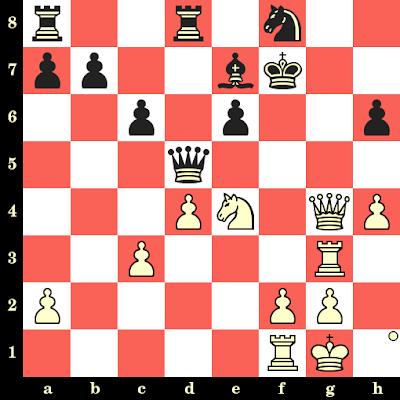 Les Blancs jouent et matent en 4 coups - Viktor Korchnoi vs Andrei Peterson, Kiev, 1965