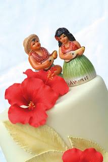 Beach Hawaiian Wedding Cake Toppers