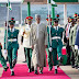 UPDATED: Buhari lands in Abuja, ignores guard of honour