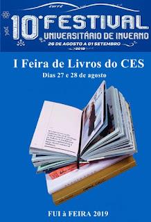 Biblioteca do CES promove feira de livros durante o 10º FUI em Cuité