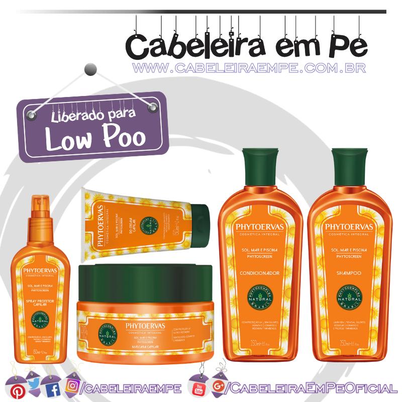 Shampoo, Condicionador, Máscara, DD Cream e Protetor Solar Sol, Mar e Piscina - Phytoervas (Low Poo)