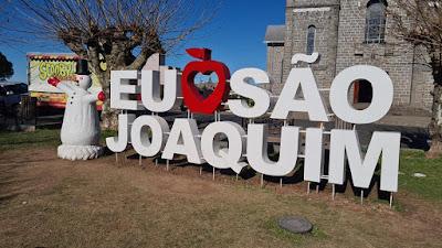 Letreiro turístico de São Joaquim