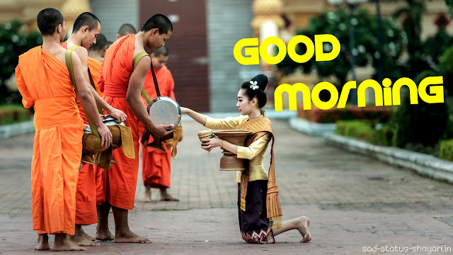 good morning images monks hindu