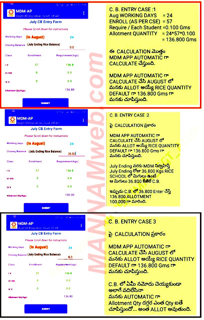 How to Enter/Submit the  Closing Balance of MDM Rice in MDM App (Rice indent for Next month )
