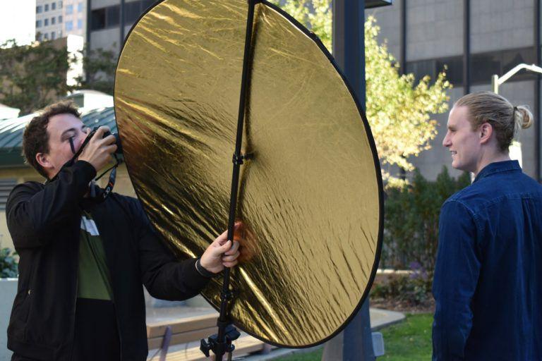 Фотосъемка портрета с отражателем