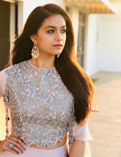 Keerthy Suresh in White Dress with Cute and Lovely Smile 1