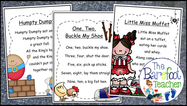 The Barefoot Teacher Nursery Rhymes Poetry Books For Kids