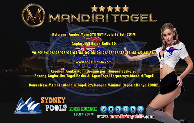 Prediksi Togel Sidney Mandiri Togel 18 Juli 2019