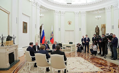 President Putin meeting with Igor Dodon.