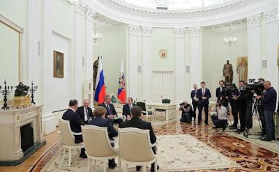 President Putin meeting with Igor Dodon.