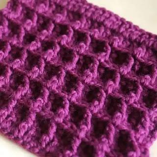 Punto Waffle a Crochet