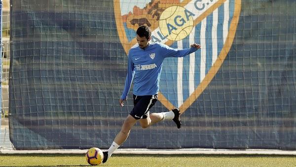 Málaga, hoy entrenamiento y presentación de Erik Morán