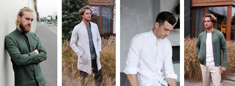 Leinen-Kleidung für Männer in Europa produziert