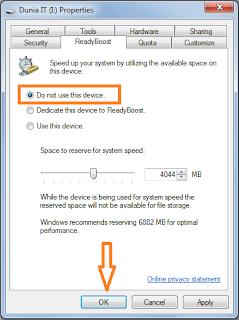 Tips mempercepat kinerja Windows menggunakan fitur ReadyBoost