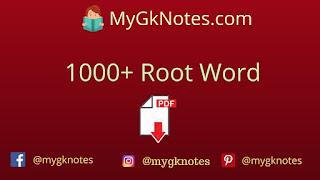 1000+ Root Word PDF in English