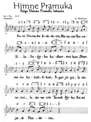Not Angka dan Not Balok Hymne Pramuka