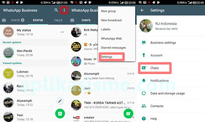 Cara Backup Chat WhatsApp Business