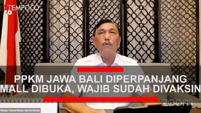 PPKM Diperpanjang, Mall akan Uji Coba Dibuka, Pengunjung Wajib Sudah Divaksin