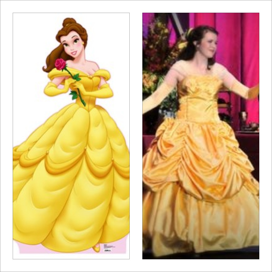 The Costume Seamstress: Belle's Yellow Dress