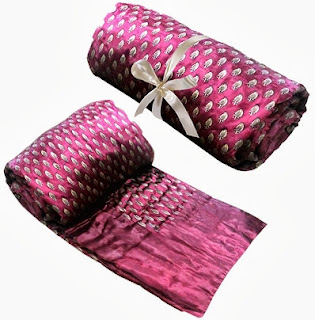 Spicy Offer: Carah Jaipuri Satin Quilts (Set of 2) Size: 83″ x 59″ worth Rs.3999 for Rs.1350 Only