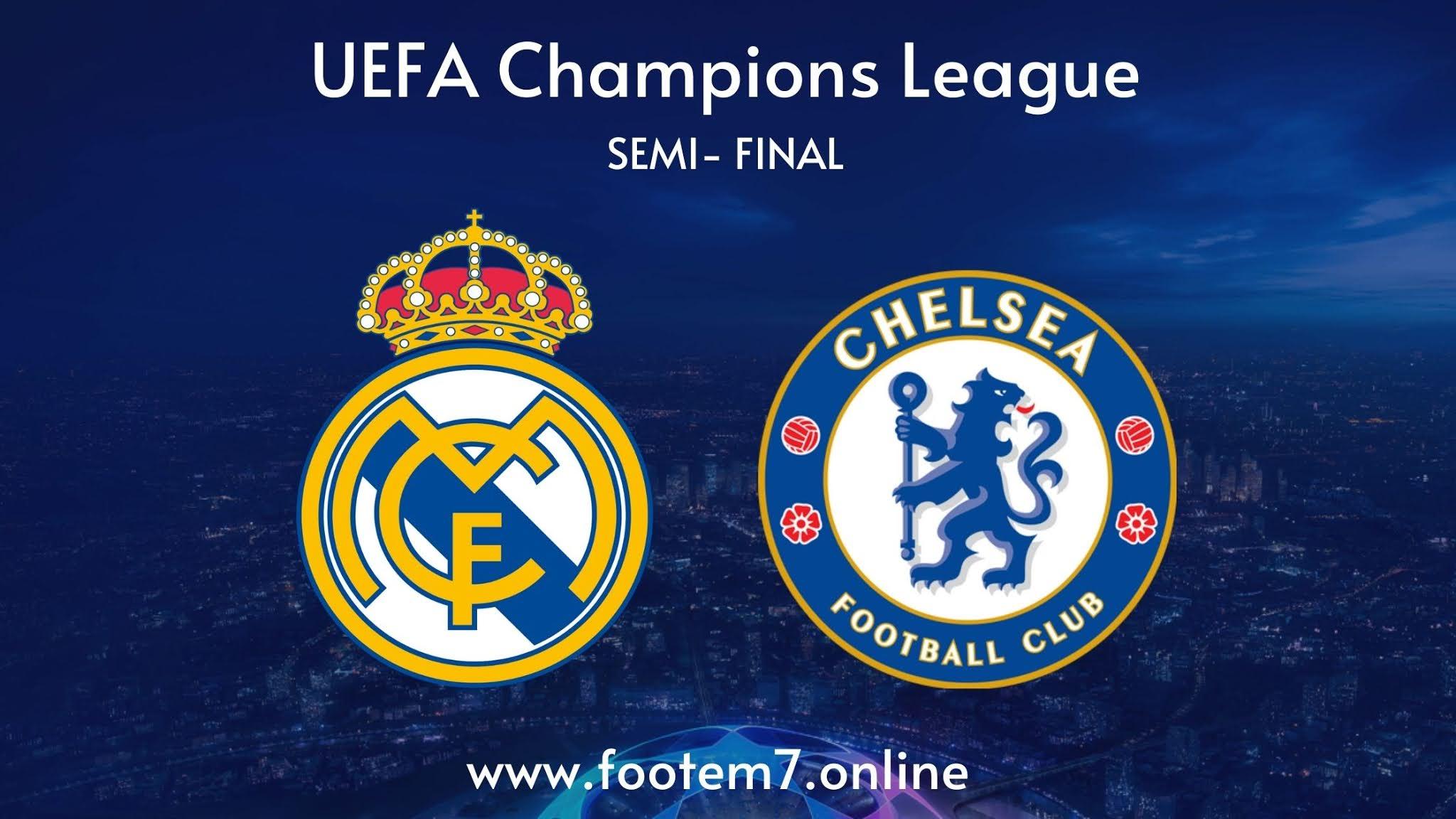 Real Madrid vs Chelsea semi final champions league
