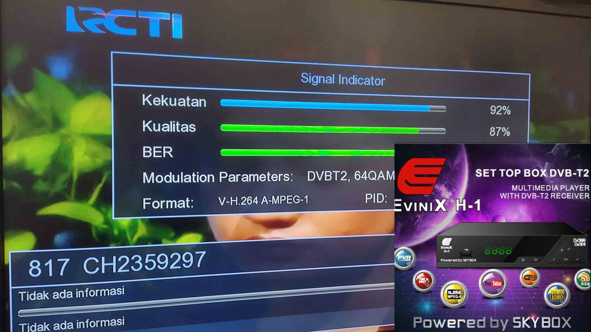 Firmware STB DVBT2 Evinix H1