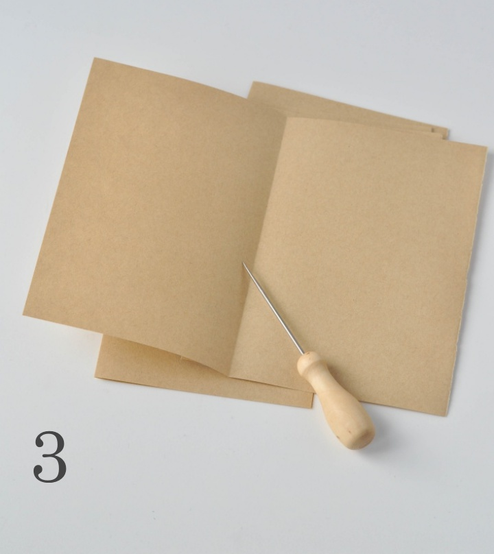 DIY Leather Notebook - How to, part 5