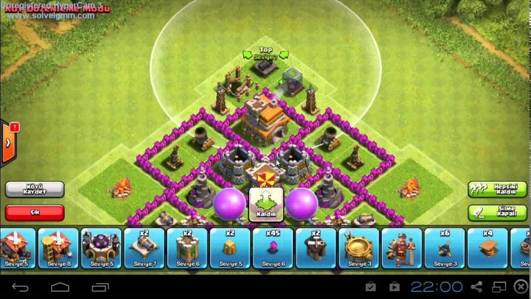 clash of clans 7 seviye köy binas? savunma