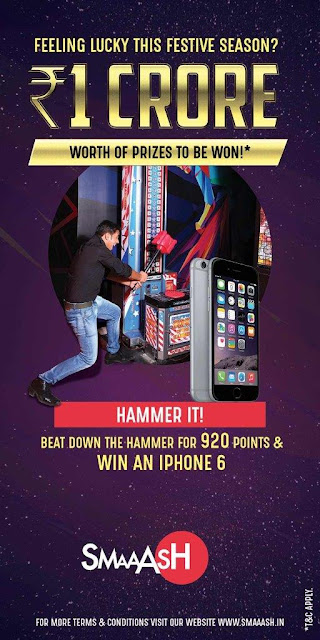 Play at SMAAASH and get a chance to win unlimited Prizes worth 1 Crore