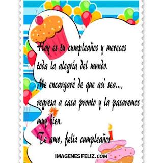 Frases cortas de feliz Cumpleaños Amor