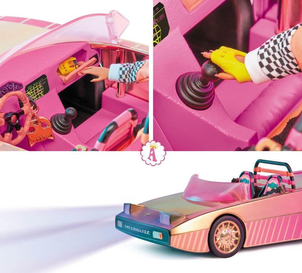 Розовый кабриолет Лол Сюрприз для куклы O.M.G. гонщицы
