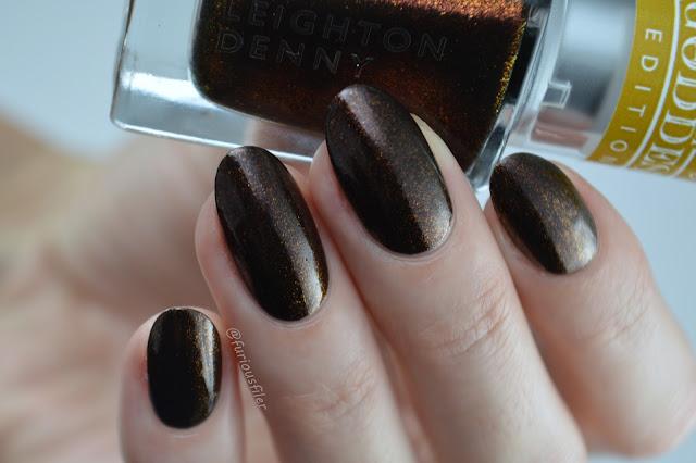 Leighton Denny swatch Venus desire bronze shimmer