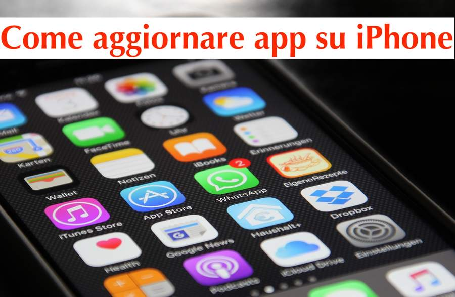 come aggiornare app iphone