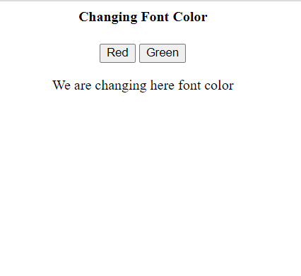 HTML programming code showing change in font color