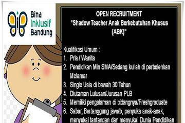 Lowongan Kerja Pengajar Anak Berkebutuhan Khusus Bina Inklusif