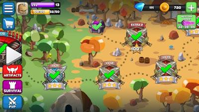 لعبة القتال والمغامرات Tiny Gladiators مهكرة للأندرويد - تحميل مباشر