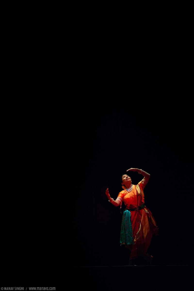 "Guru Pratibha Jena Singh from a scene of ""Dootvakyam"" a Play presented as the last performance of the day's events."