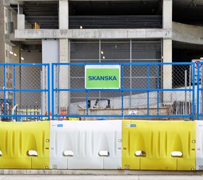 SKANSKA name sign at Capitol construction site June 2016