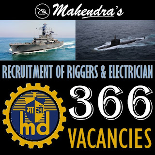 MAZAGON DOCK | RECRUITMENT OF RIGGERS & ELECTRICIAN