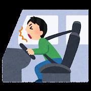 シートベルト着用時の事故のイラスト