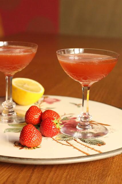 cocktail no fun aux fraises et balsamique