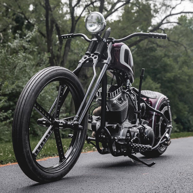 Harley Davidson Sportster By Led Sled Customs Hell Kustom