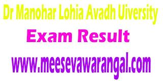 Dr Manohar Lohia Avadh Uiversity Results Of BCA 6th Sem -2016