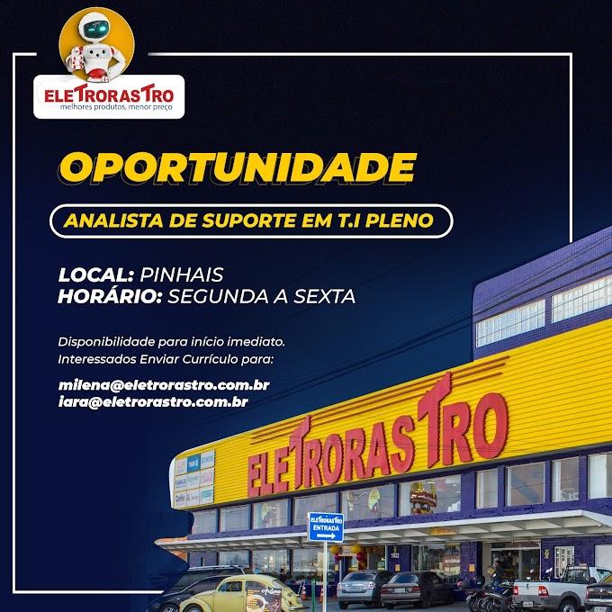 Analista de Suporte TI pleno, Curitiba, PR