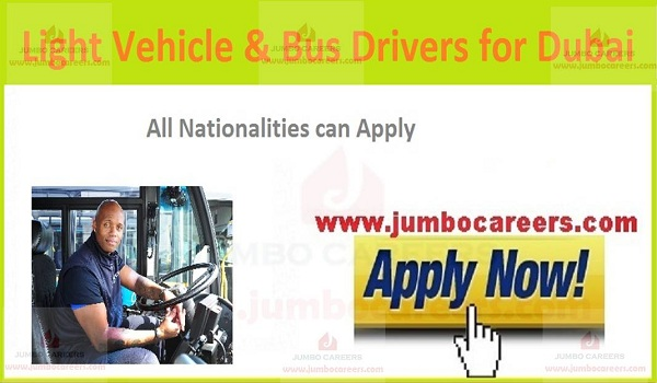 Available driving jobs in Gulf countries, UAE latest jobs and careers,