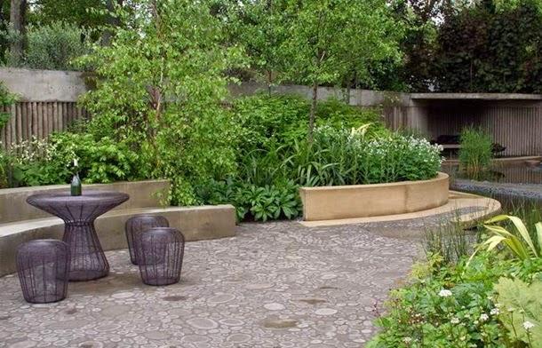 Современный дизайн двора