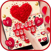 Red Valentine Hearts Keyboard Theme Apk Download for Android
