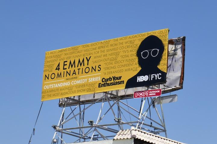 Curb Your Enthusiasm 2020 Emmy nominee billboard