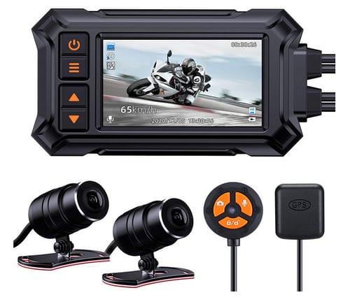 Blueskysea A12 1080p Dual Motorcycle Dashcam Camera