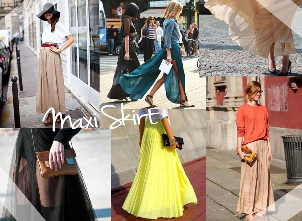 maxi spódnice, stylizacje, porady stylisty, kobiety, w co się ubrać, styl moda, blog modowy, blog, inspiracje modowe